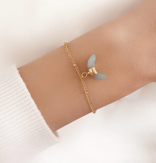 Bracelet corne lune turquoise
