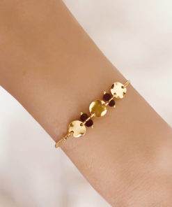 Bracelet fait main pierre noire