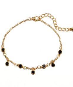 Bracelet perles noire