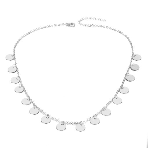 Collier medaille argent tendance