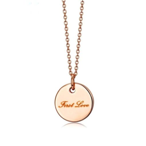 Collier medaille or rose