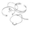 Ensemble bracelets corne argent
