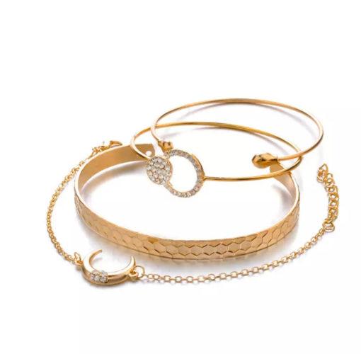 Ensemble bracelets corne lune