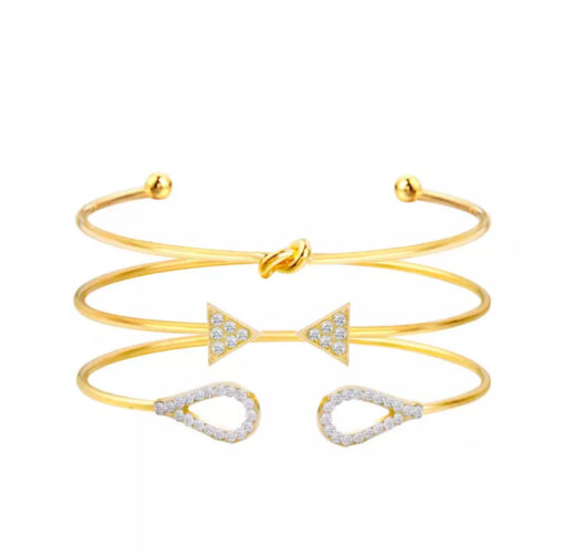 Ensemble bracelets femme strass