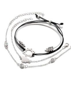 Ensemble de bracelets femme argent