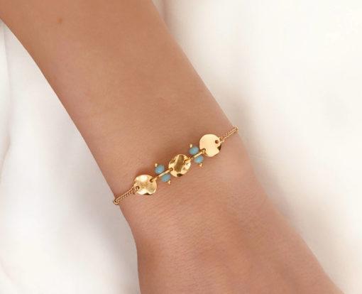 bracelet fait main pierre turquoise