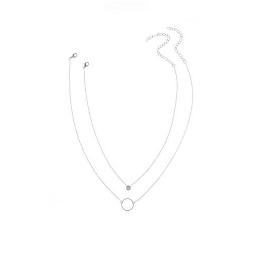 collier deux rangs cercle swarovski
