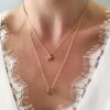 collier lune etoile or