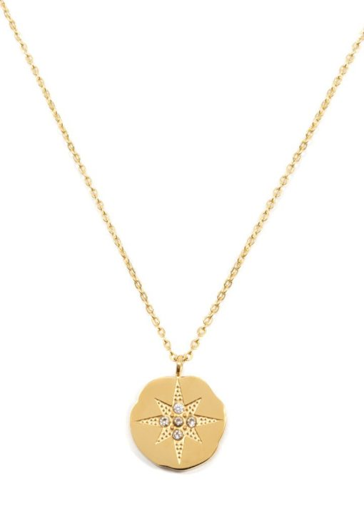 collier medaille etoile