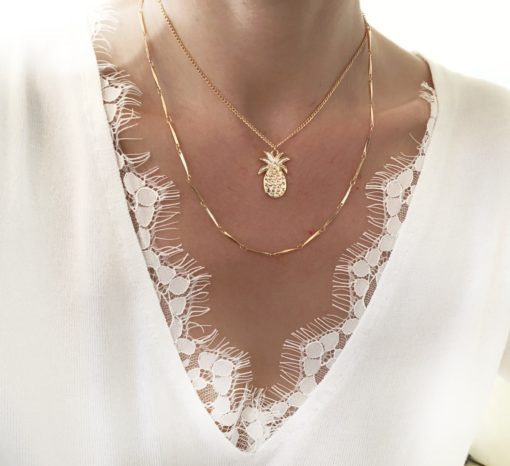 collier multirang ananas