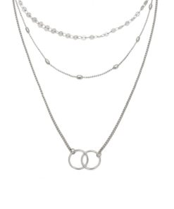 collier multirang karma argent
