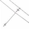 collier multirangs croix strass