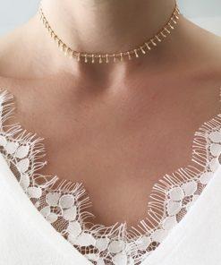 collier ras de cou or