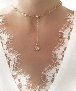 collier ras du cou cristal