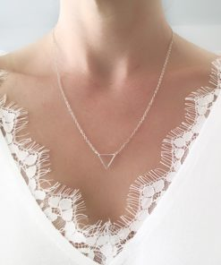 collier triangle argent