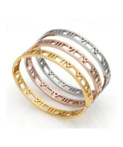 Bracelet Jonc chiffres romains