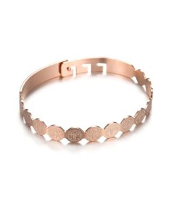 Bracelet Jonc ruban or rose