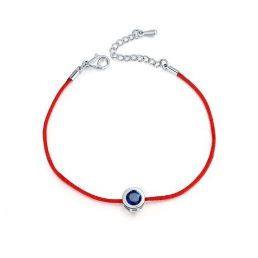 Bracelet argent oxyde de zirconium Bleu