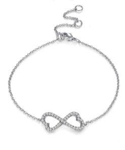 Bracelet cadeau femme - bracelet noeud zirconium