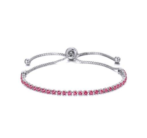 Bracelet cadeau femme - strass rose