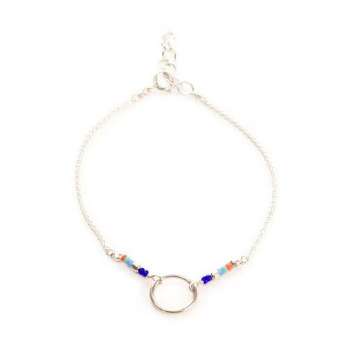 Bracelet cercle plaque argent