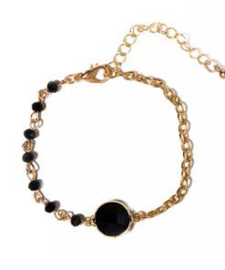 Bracelet createur pierre noire