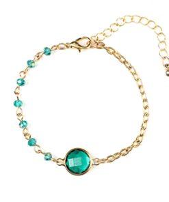 Bracelet créateur pierre verte