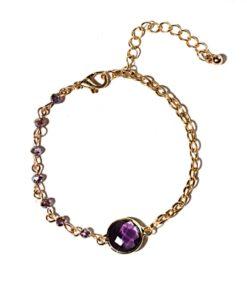 Bracelet createur pierre violette