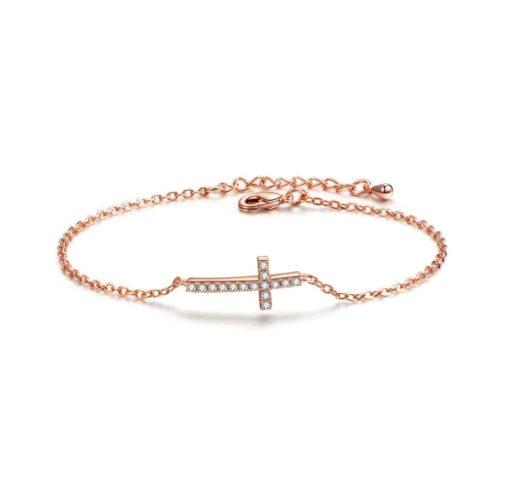 Bracelet croix strass