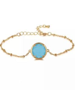 Bracelet fantaisie aigue marine femme