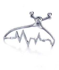 Bracelet fantaisie strass argent