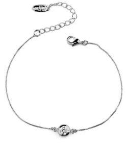 Bracelet fin argent zirconium
