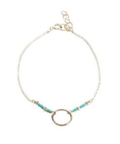 Bracelet minimaliste cercle argent