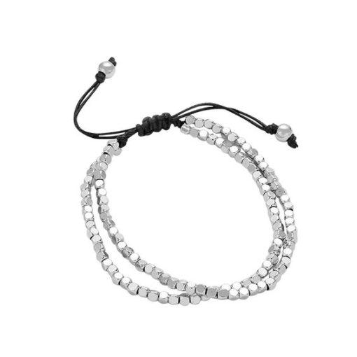 Bracelet original- perles argent