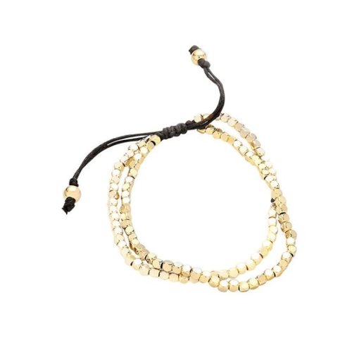 Bracelet original- perles or