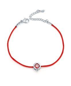 Bracelet oxyde de zirconium rouge