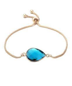 Bracelet pierre bleu