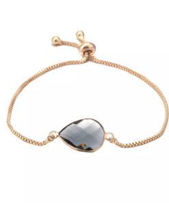 Bracelet pierre gris