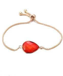 Bracelet pierre rouge