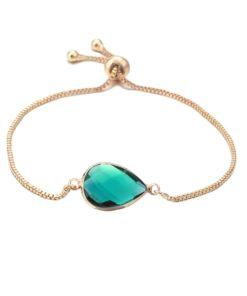 Bracelet pierre verte