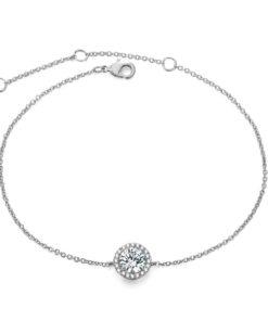 Bracelet solitaire argent