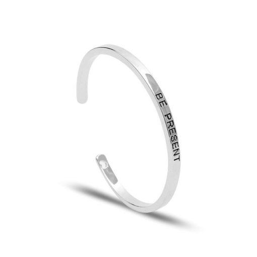 Cadeau original femme- Bracelet message argent