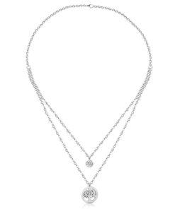 Collier pendentif arbre de vie oxyde de zirconium
