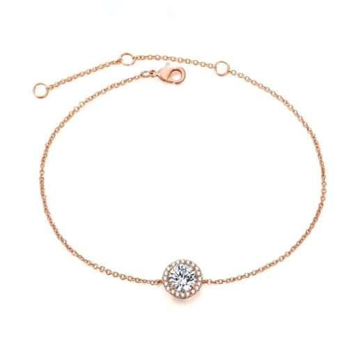 Bracelet solitaire or rose