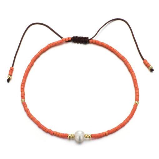 Bracelet perles corail