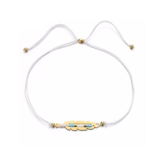 Bracelet plume cordon
