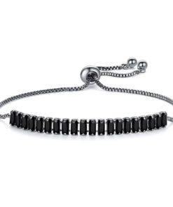 Bracelet strass noir