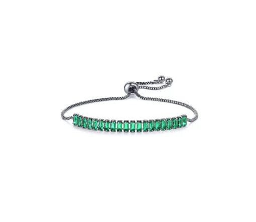 Bracelet strass vert
