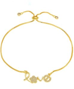 Cadeau femme- Bracelet love or