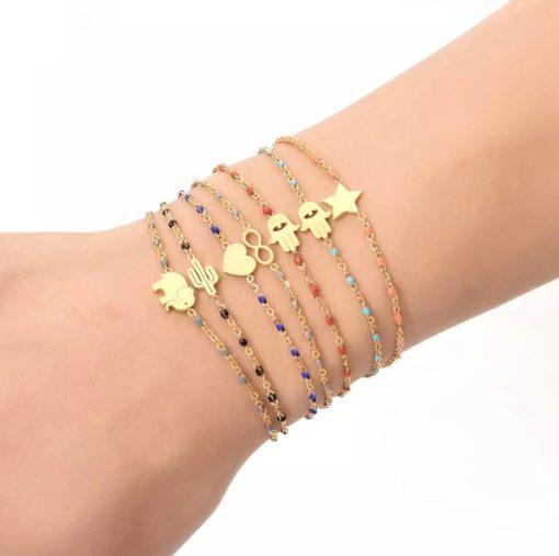 Bracelet chaine fine doree